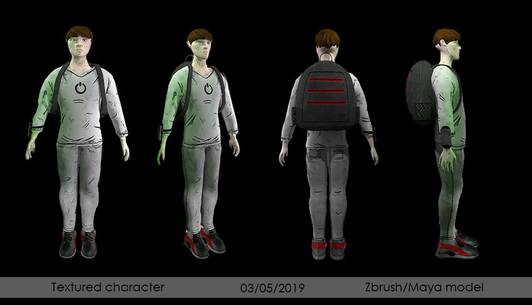 textured turnaround  of good version - textures made in substance painter