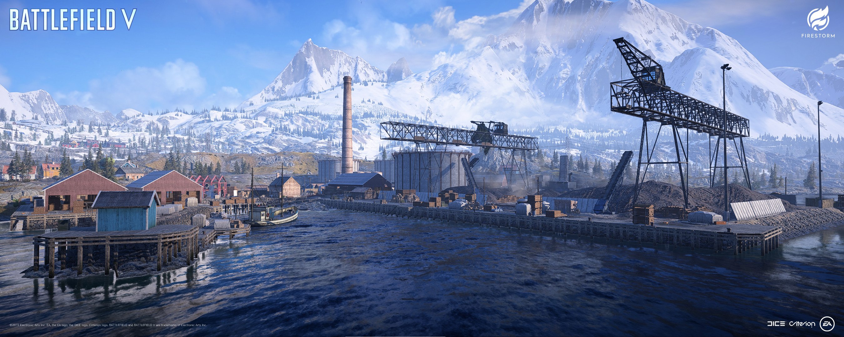 BATTLEFIELD V: FIRESTORM – Halvøy Level Art