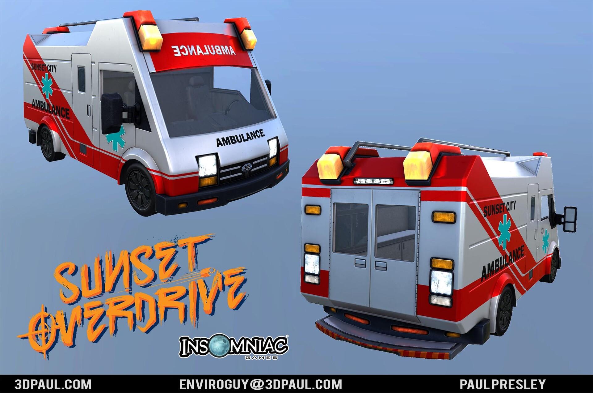 Paul presley ig 10 ambulance