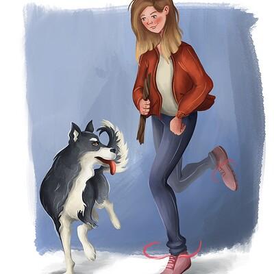 Madeline kalupa husky 2
