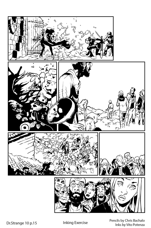 Vito potenza tav prova inking bachalo 3 dr strange 10 page 15 inkweb