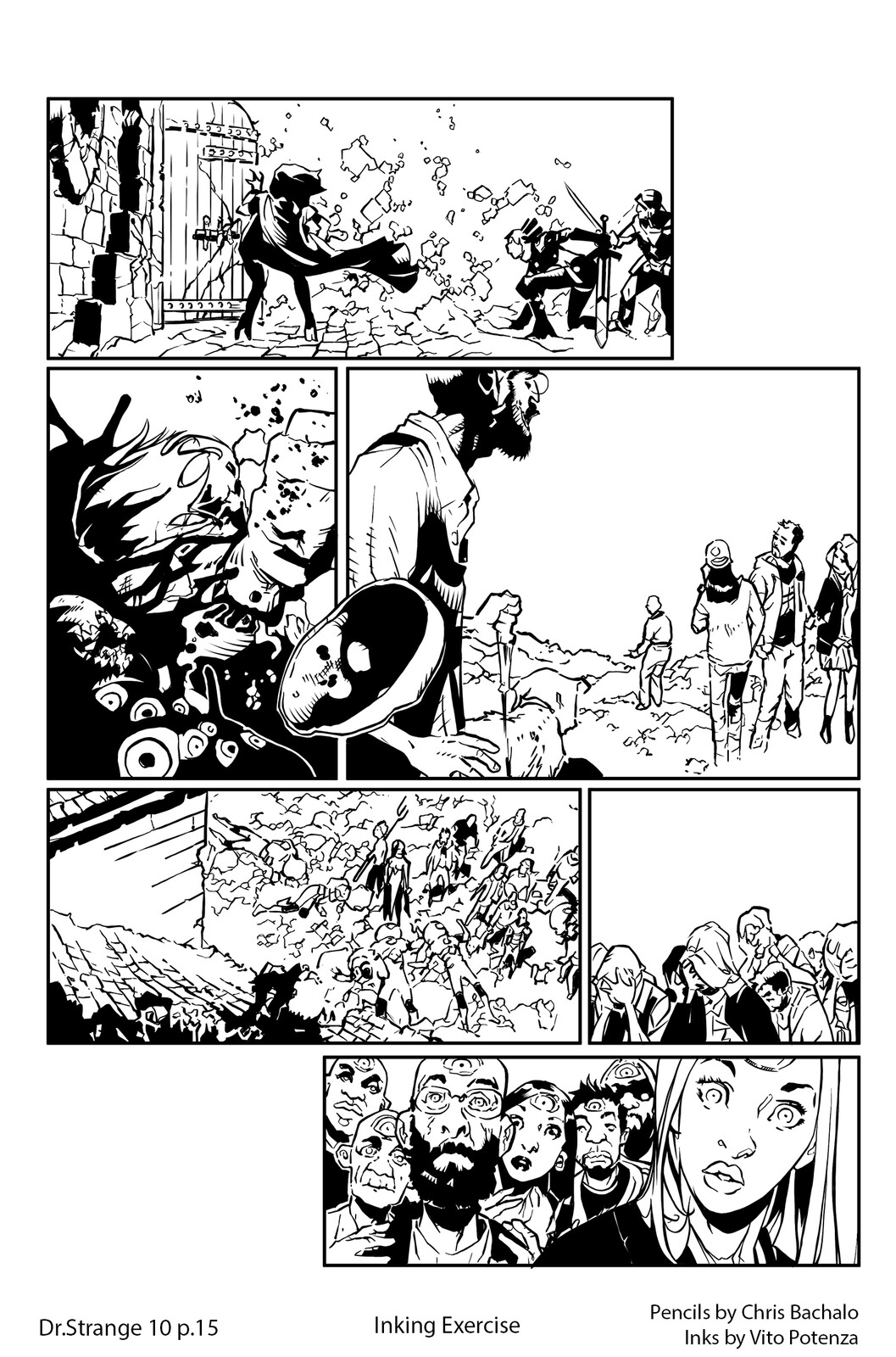 Dr.Strange #10 - page 15 Pencils by Chris Bachalo | Inking by me