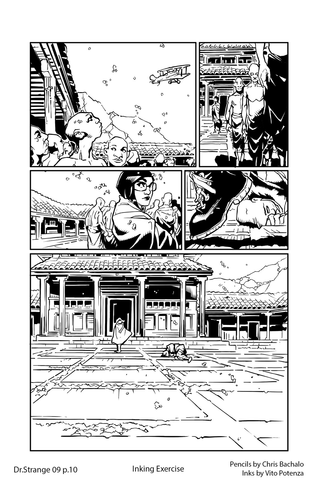 Dr.Strange #09 - page 10 Pencils by Chris Bachalo | Inking by me