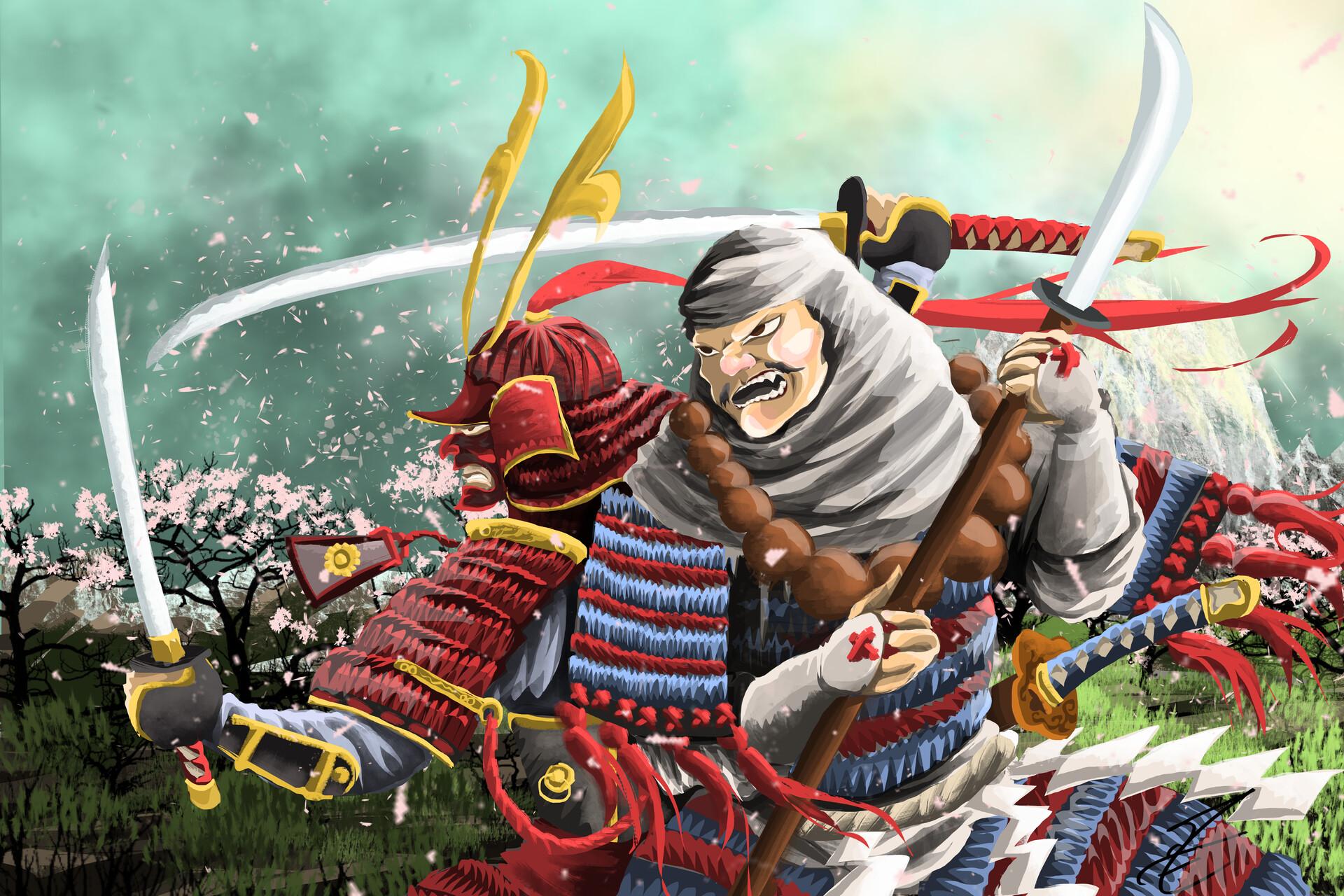 Mathieu Tran Minamoto And Benkei Benkei is the name of hero in 12 century. mathieu tran minamoto and benkei