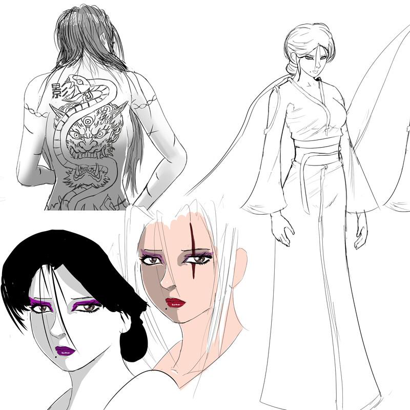 Aika Shizumi - Concept Art #1