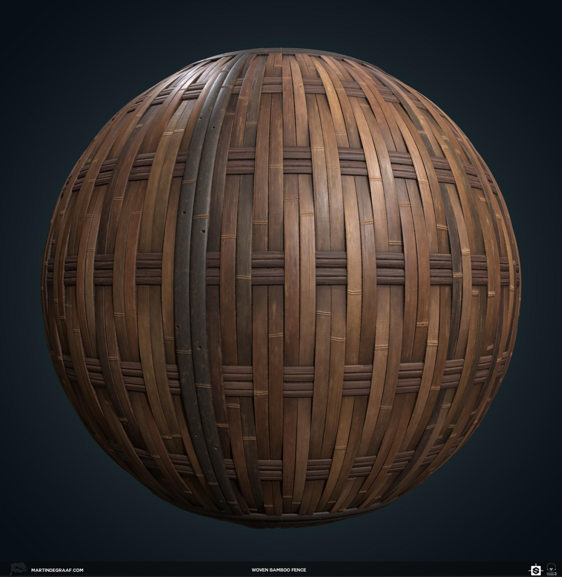 Martin de graaf woven bamboo fence substance sphere martin de graaf 2019