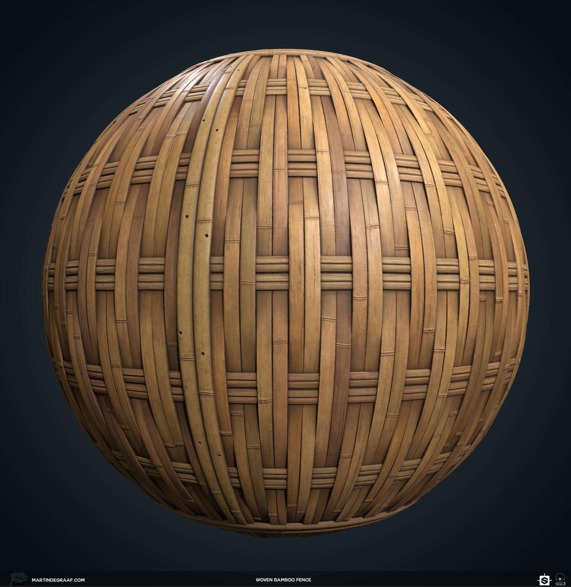 Martin de graaf woven bamboo fence substance sphere2 martin de graaf 2019