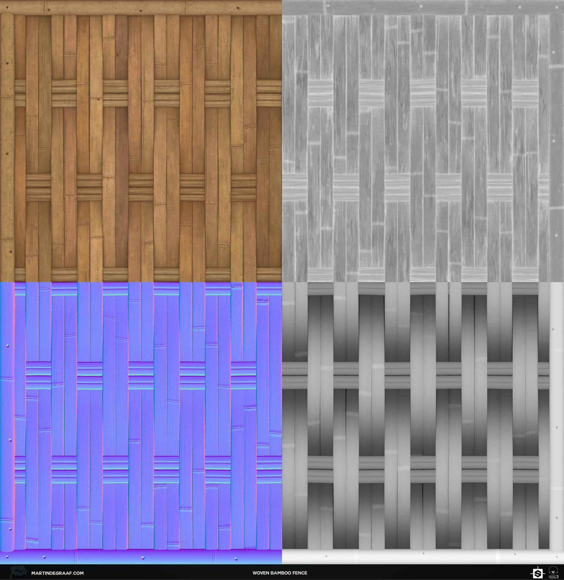 Martin de graaf woven bamboo fence substance texturesheet martin de graaf 2019