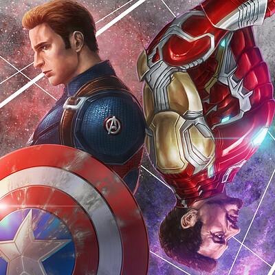 Sanghyun yu avengers captain america iron man katoyo