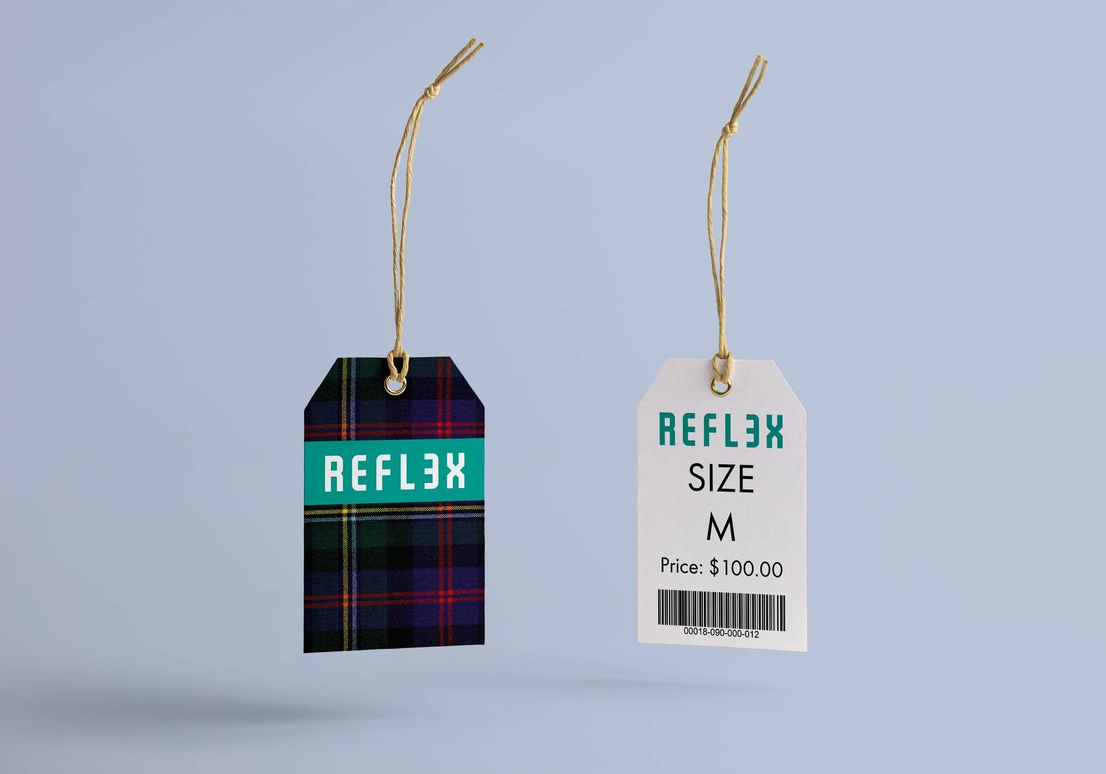Mock up clothing tag