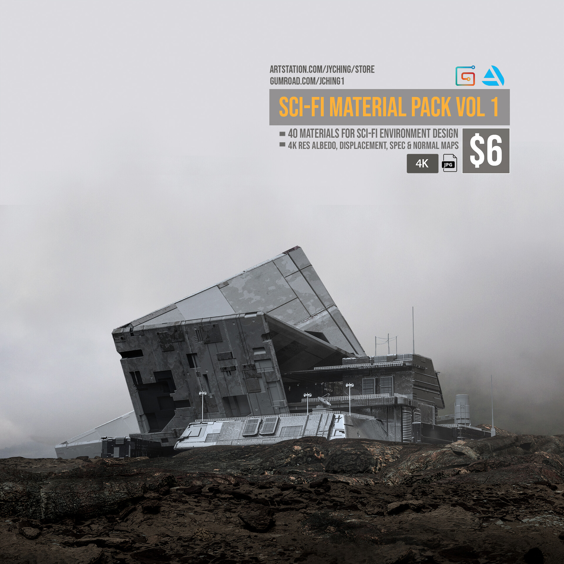 Jonathan ching sci fi building renders 04
