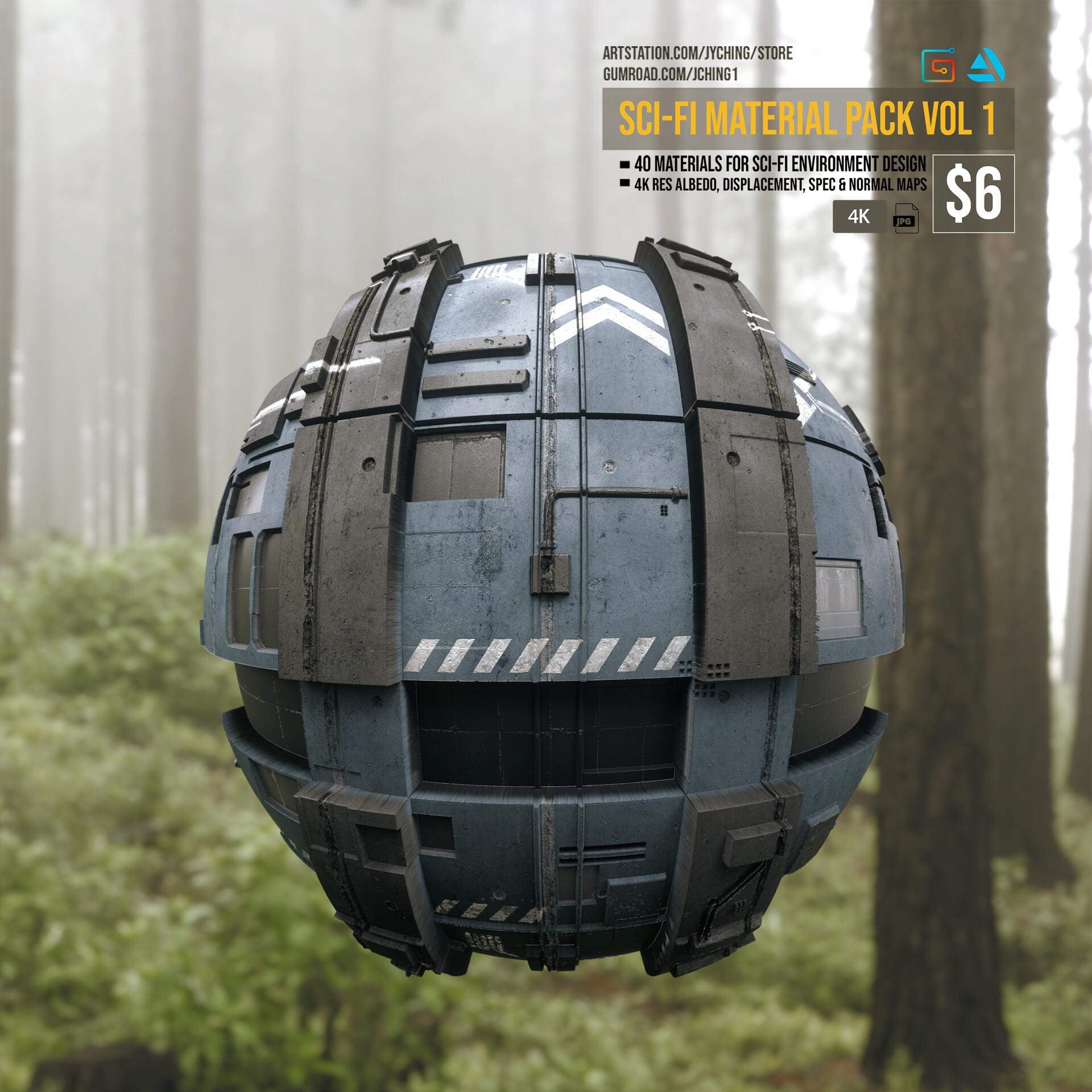 Jonathan ching sci fi material render 01
