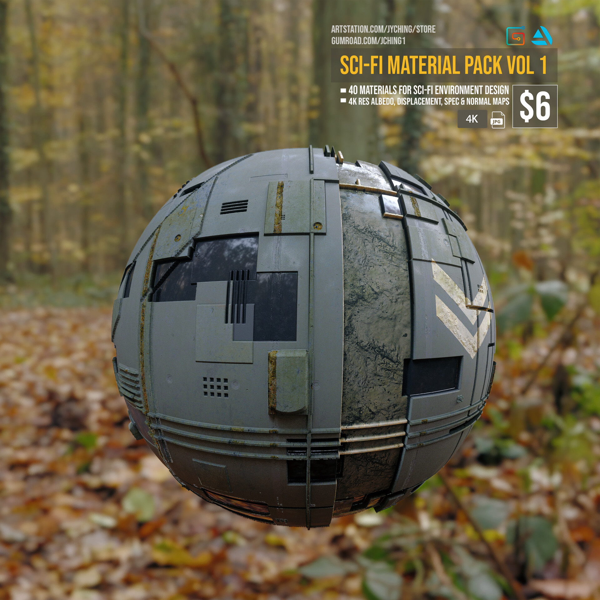 Jonathan ching sci fi material render 03