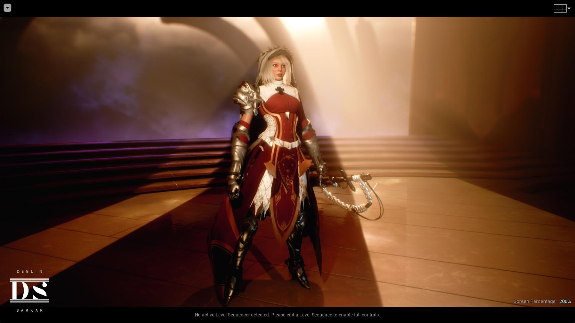 ArtStation - Seraphina - Battle Nun (Unreal Engine 4 22