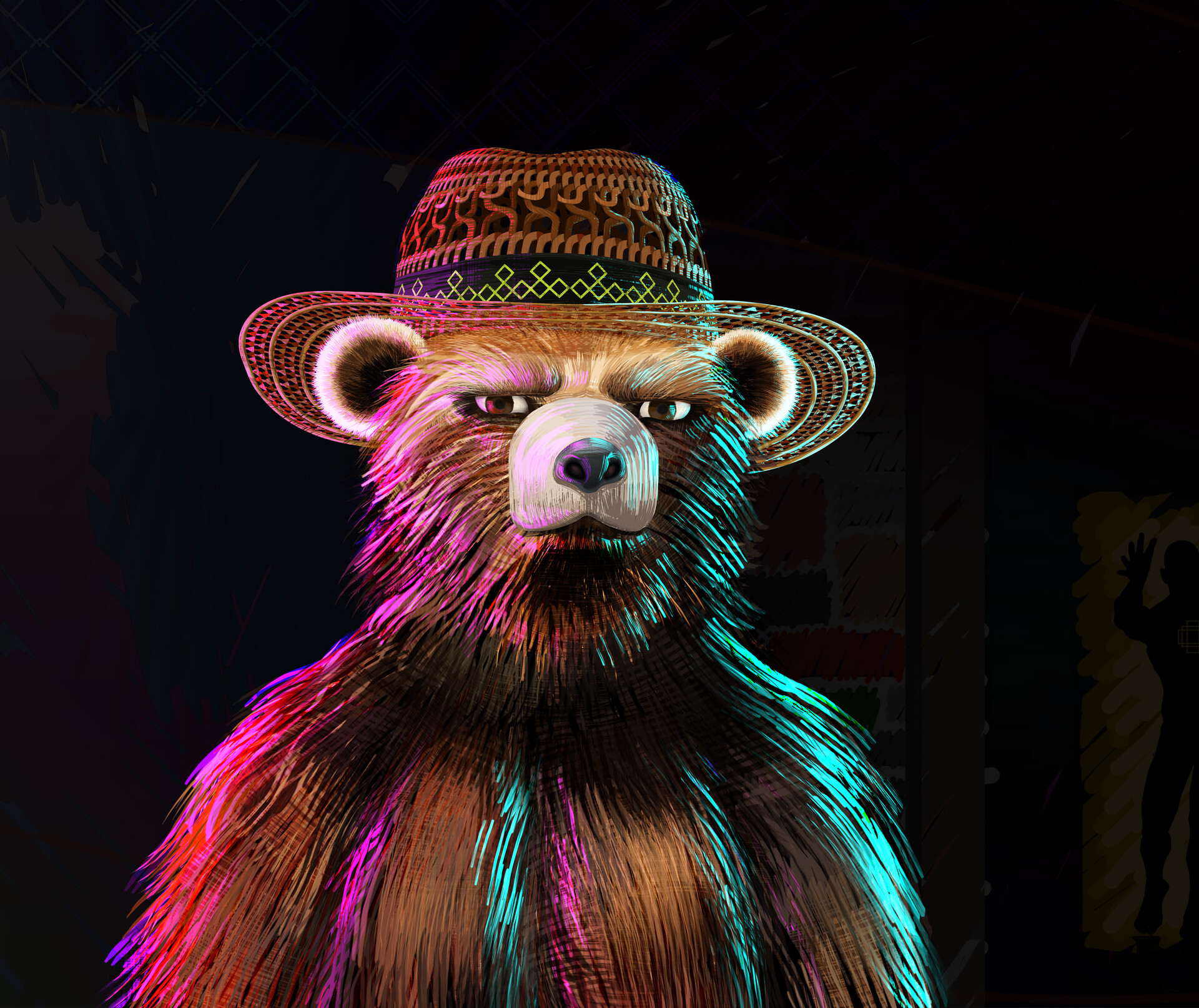 """""""I don't trust any of this."""" ~Thoughts from Bear in Hat"""