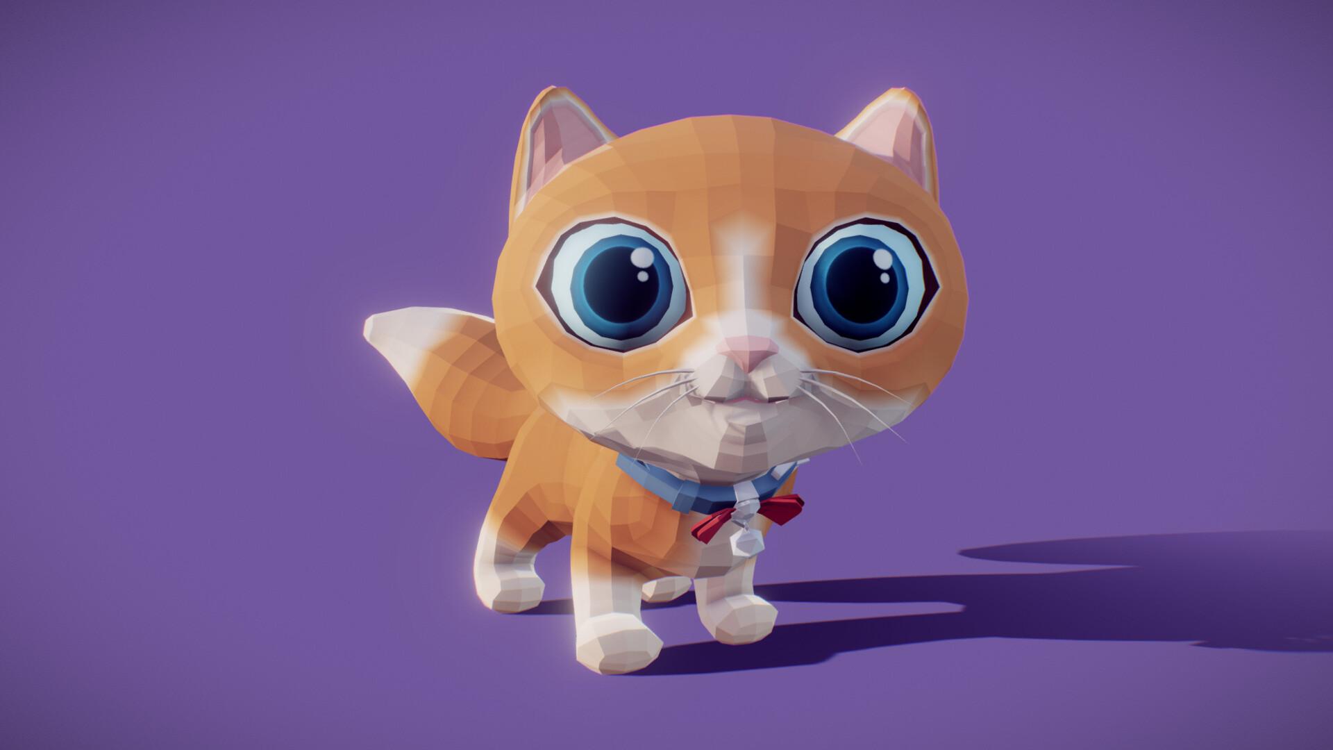 Fabian orrego stylized animated cat 1