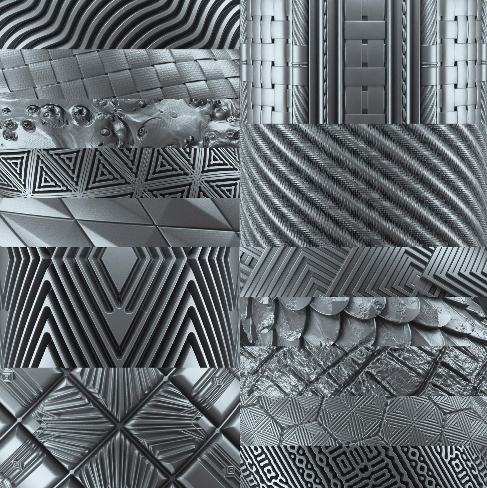 Travis davids 100 tileable displacement patterns part 2 preview5