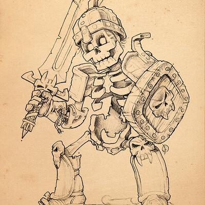 Andrey kamenov skeleton warrior