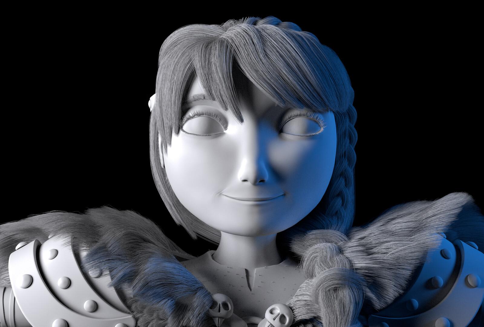AO render face