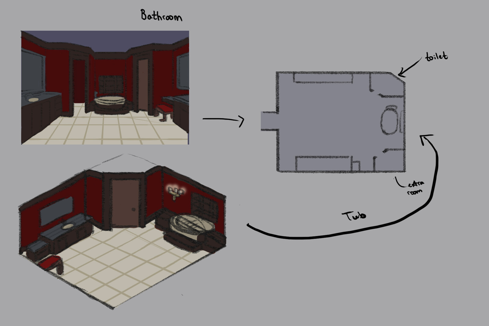 Concept Art: Bathroom