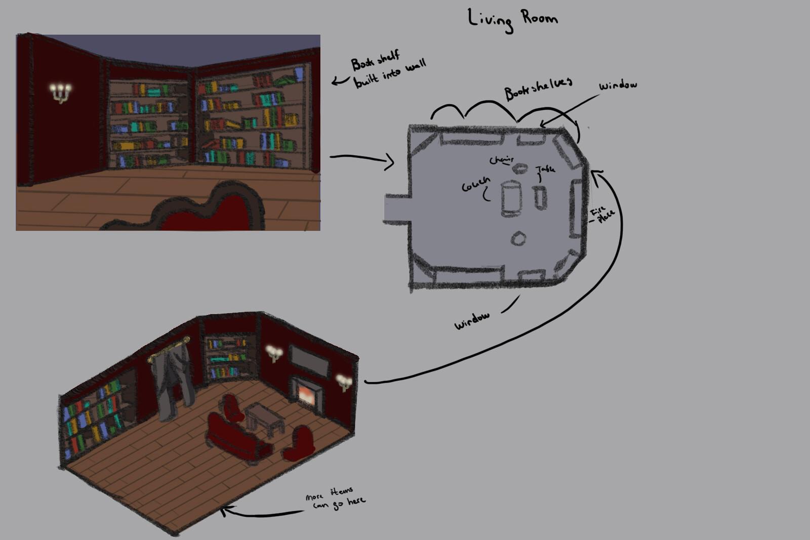 Concept Art: Living Room