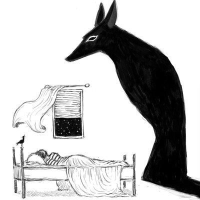 Scara mouche dreaming of anubis