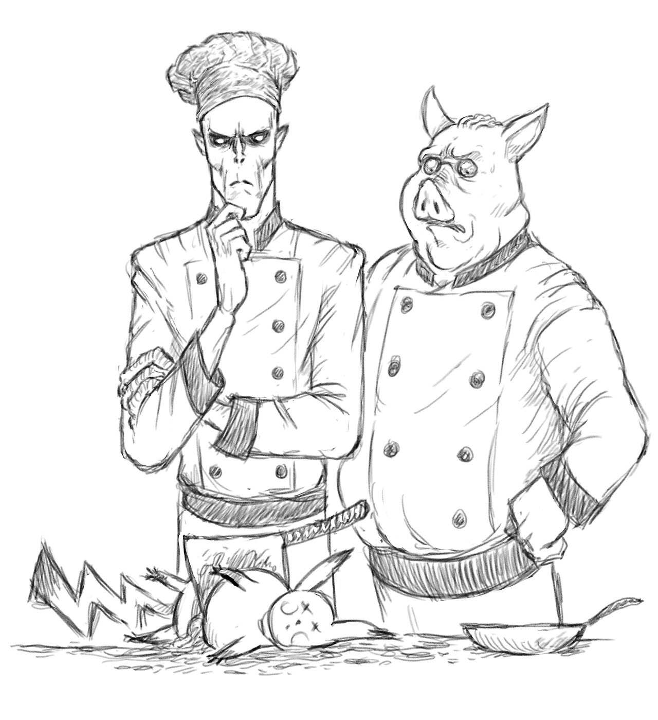 """""""Any idea how to cook that yellow japanese rat, Mr Schwein ?"""""""
