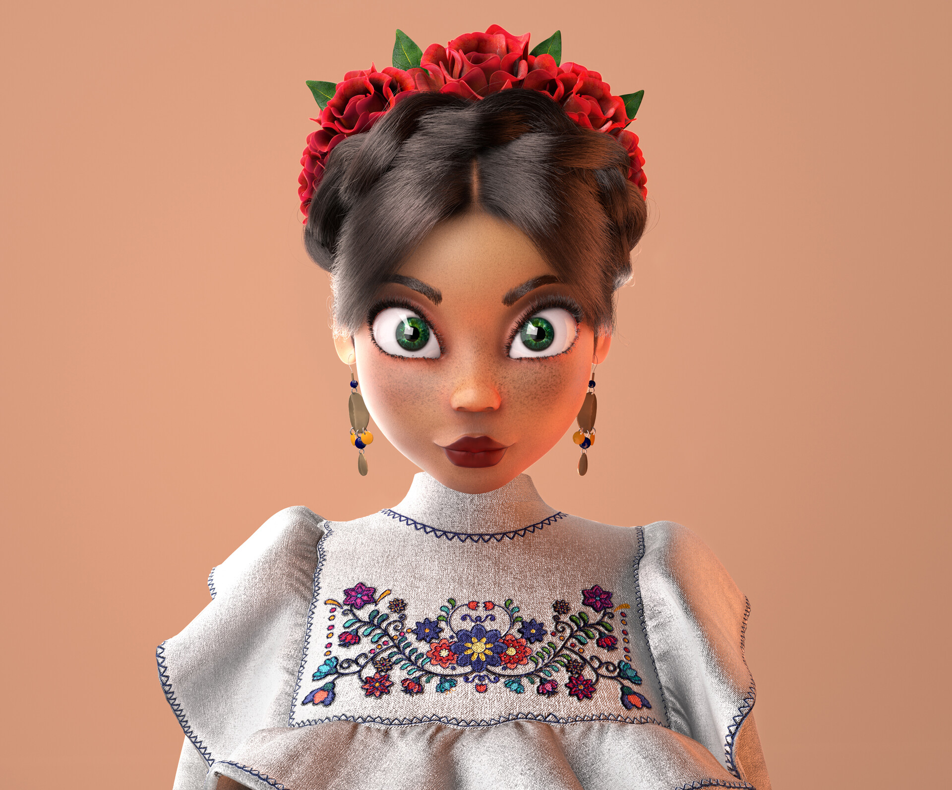 cute mexican woman