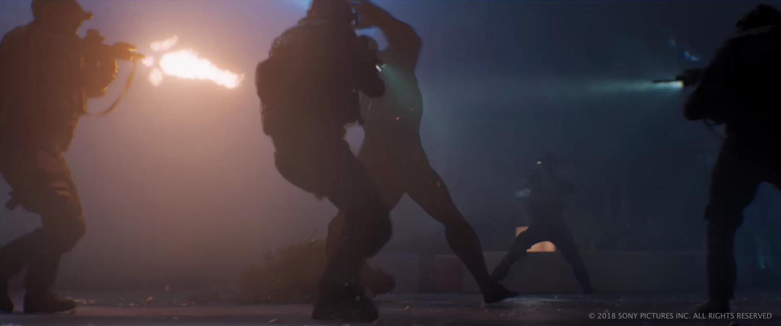SWAT team digi doubles - model, texture, lookdev