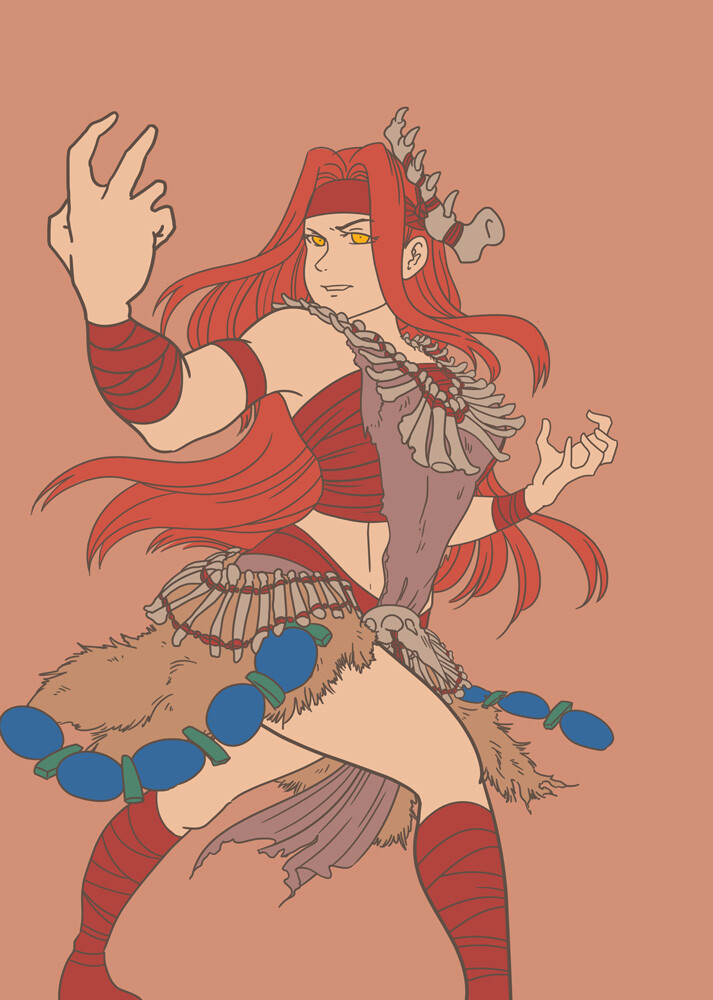 flat colors and outline