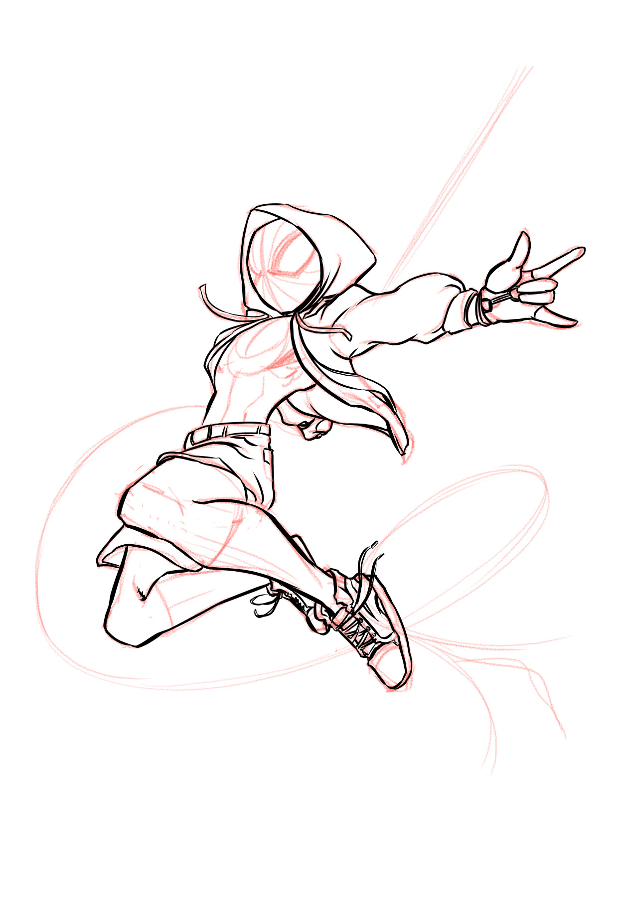 04-Inked the character on a separate layer