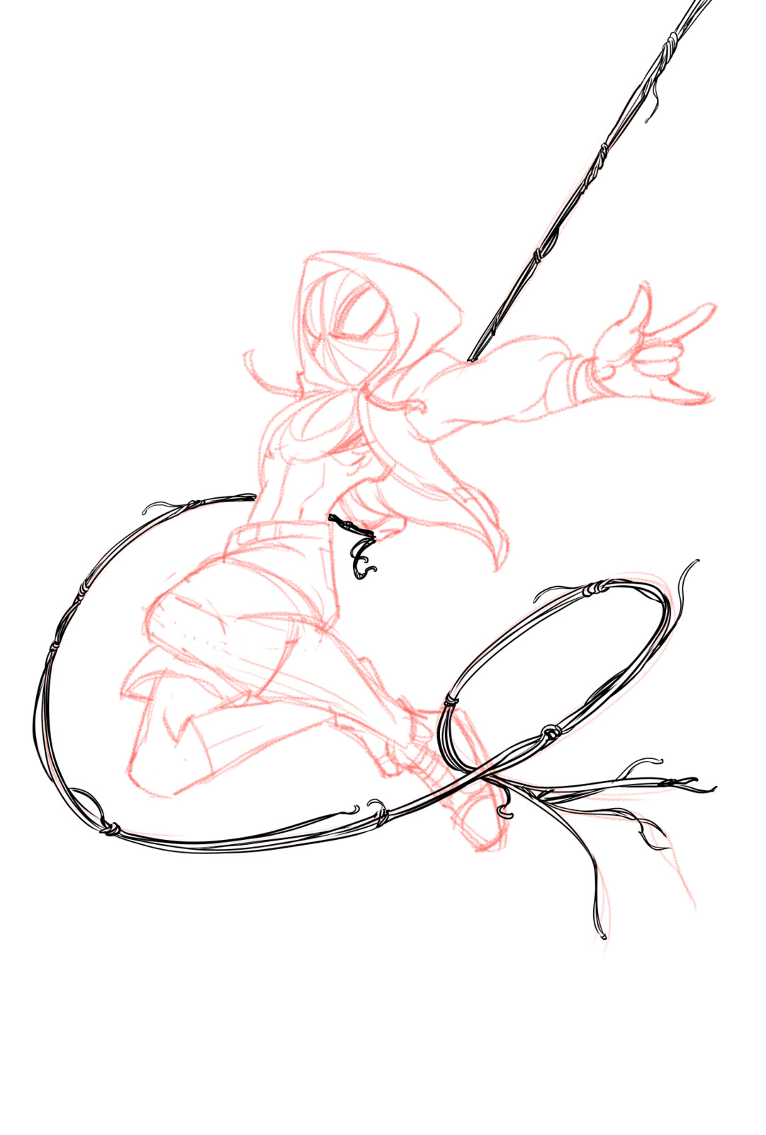 03-Inked the webbing on a separate layer
