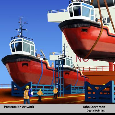 John steventon project cargo tugs