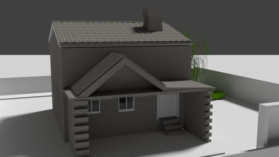 Naeem Masih House Model In Blender