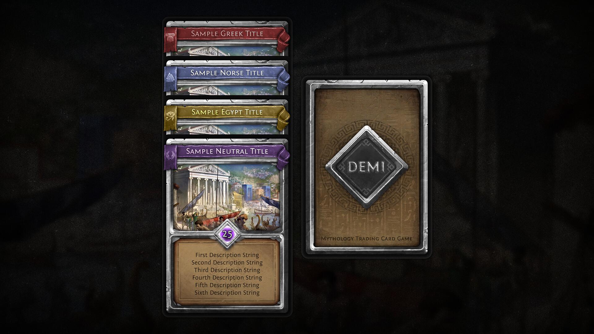Artstation Demi Mythology Tcg Card Template Vladimir Tyrlov