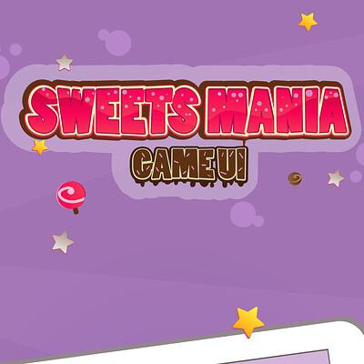 Olga levina sweet mania game ui pack presentation behance