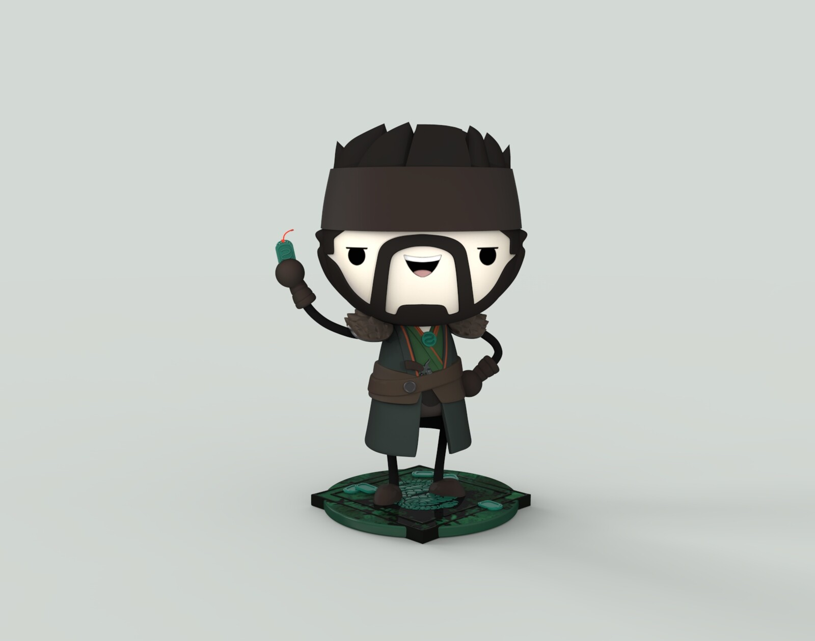 The Drifter SD character modeling