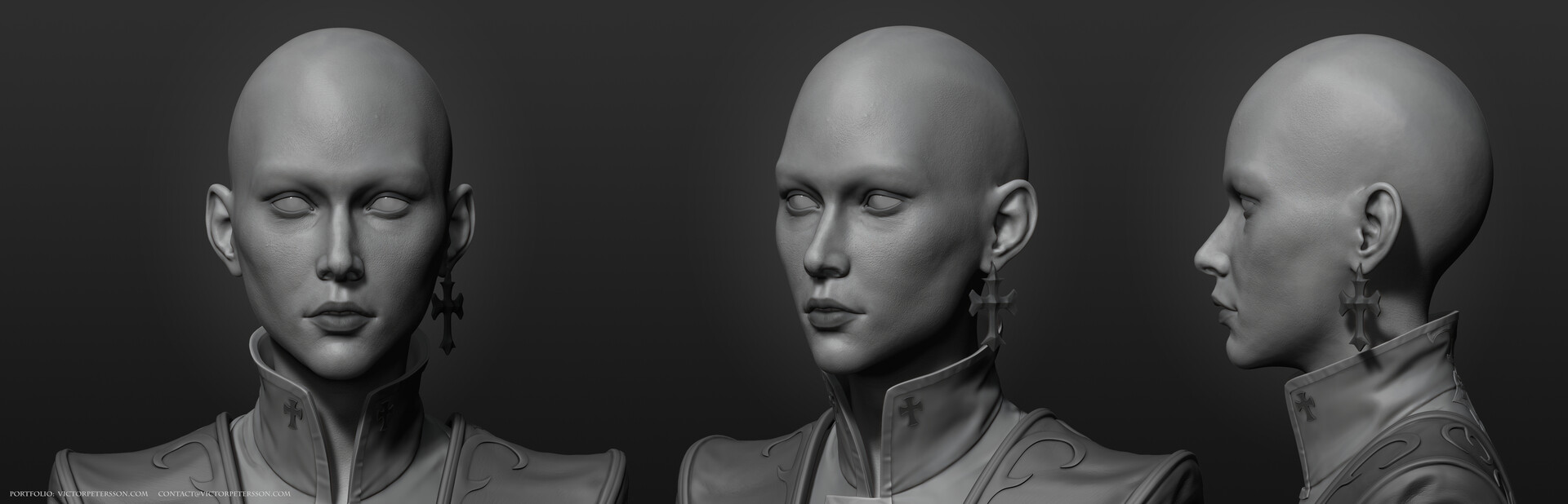 Victor petersson narcissism highpoly face