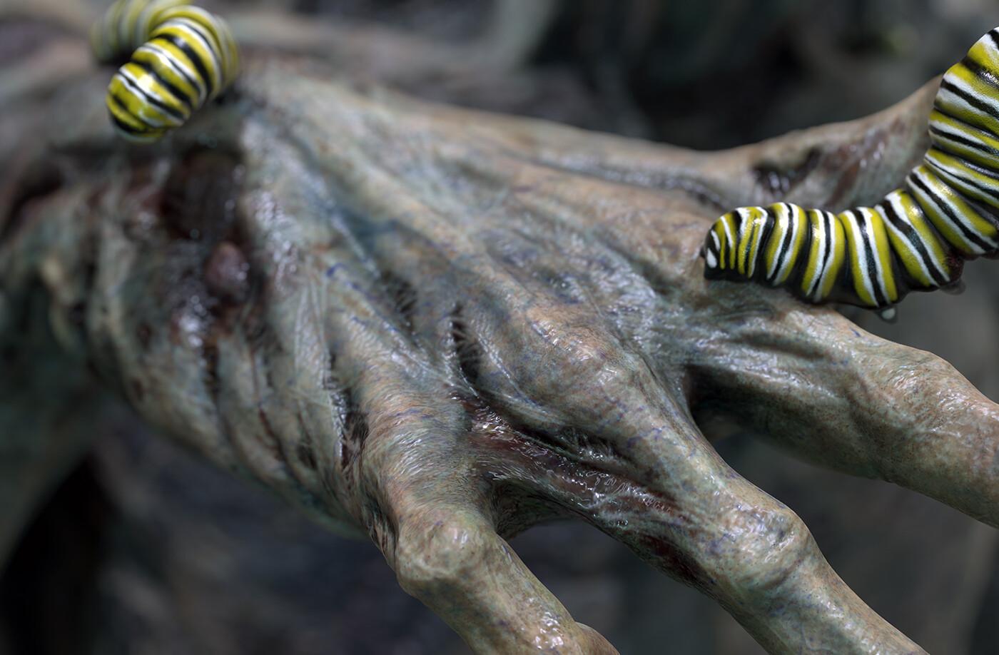 Zombie hand close up