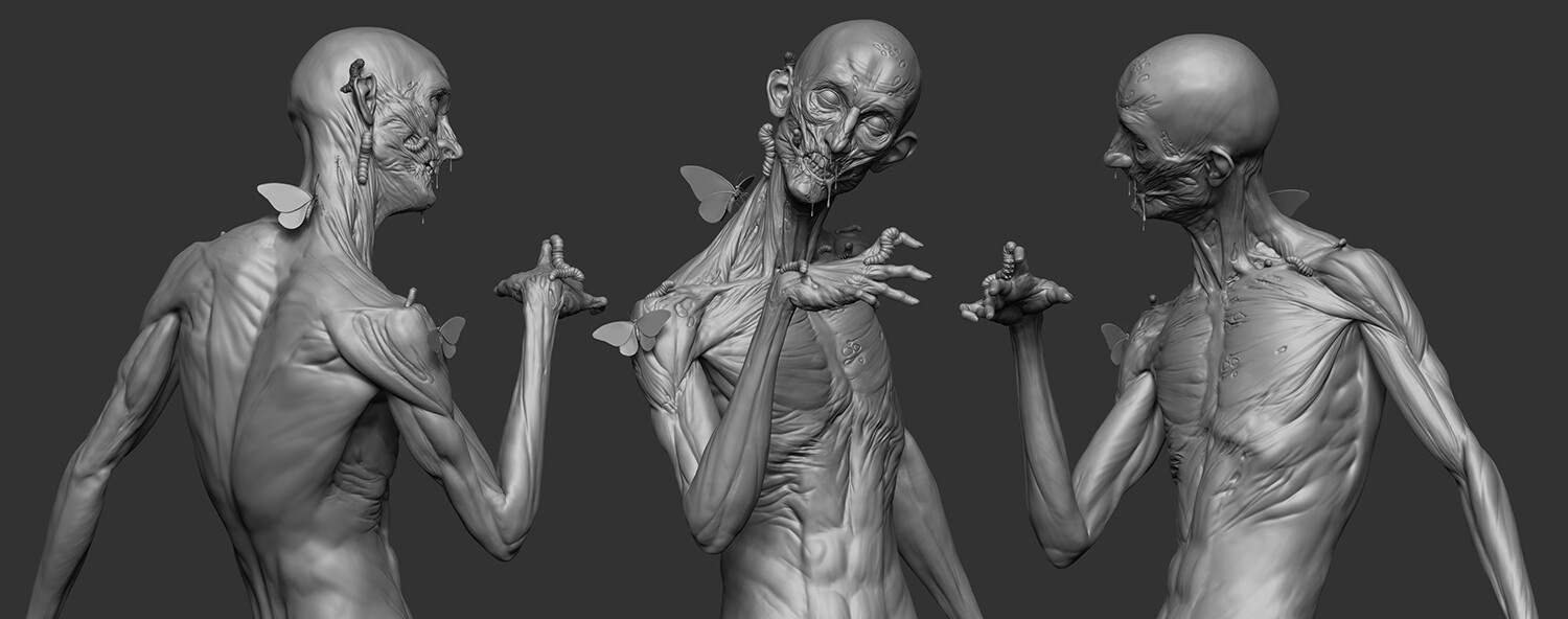 ZBrush model with pose
