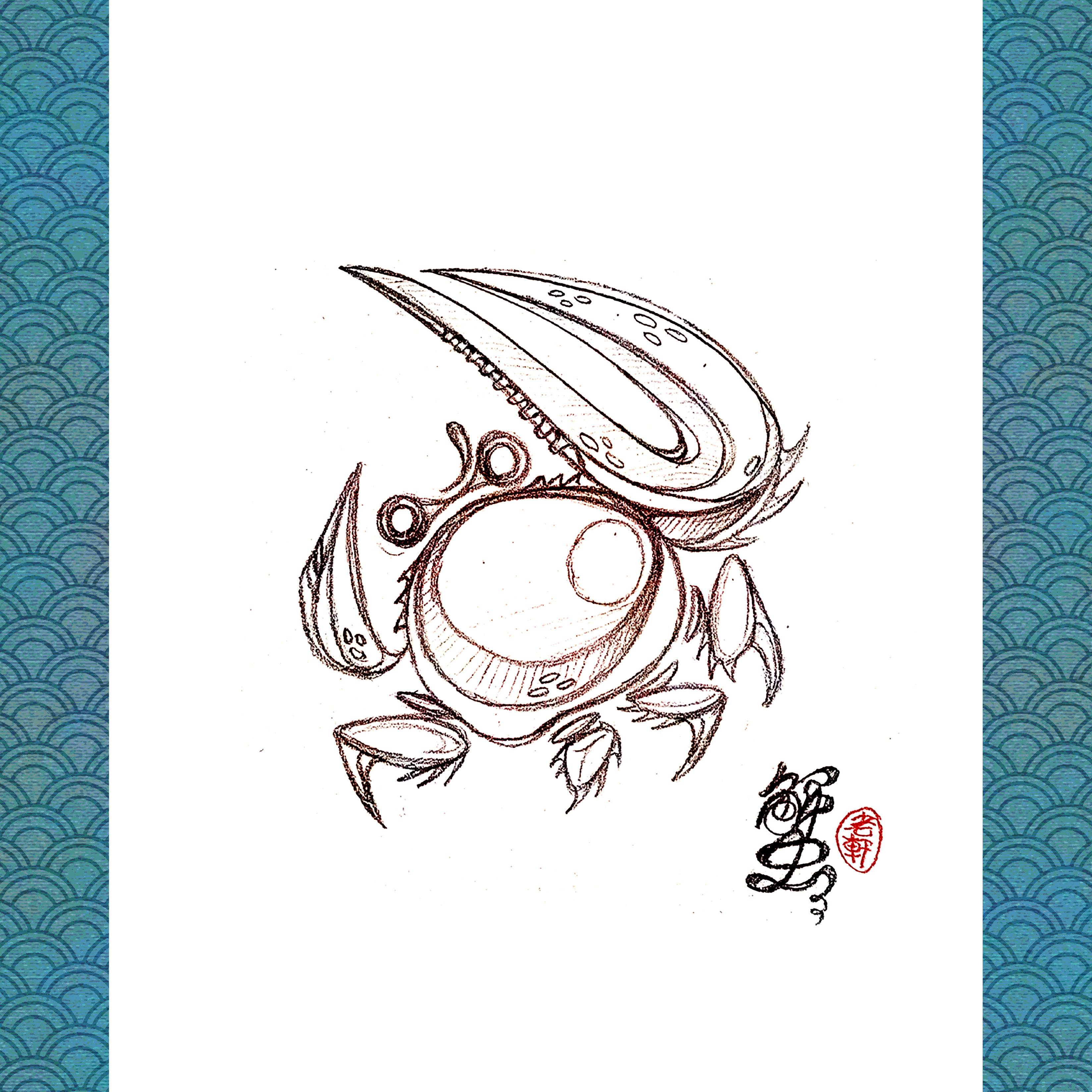 Grumpy Fiddler Crab