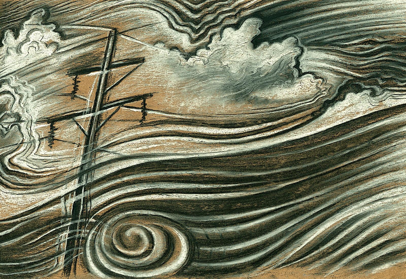 Charcoal & chalk illustration
