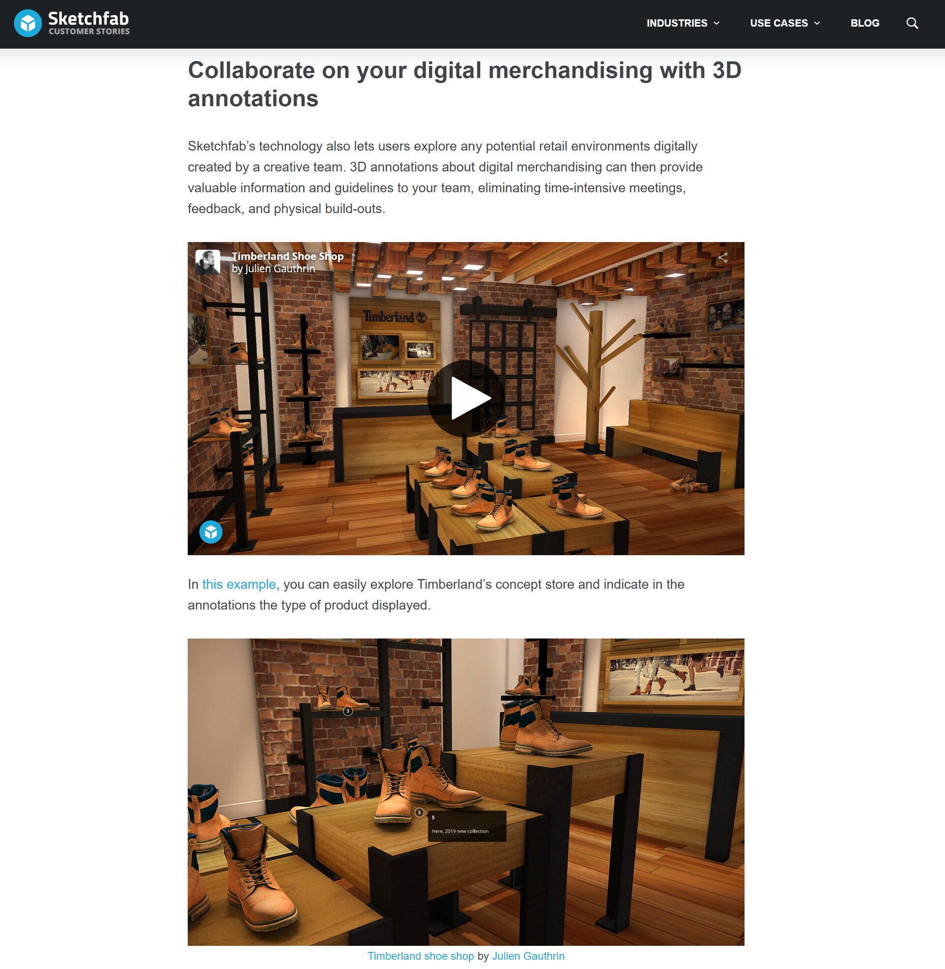 Nomx photo reference julien gauthrin sketchfab article julien gauthrin timberland shoe shop how to create engagement with 3d interactive product descriptions