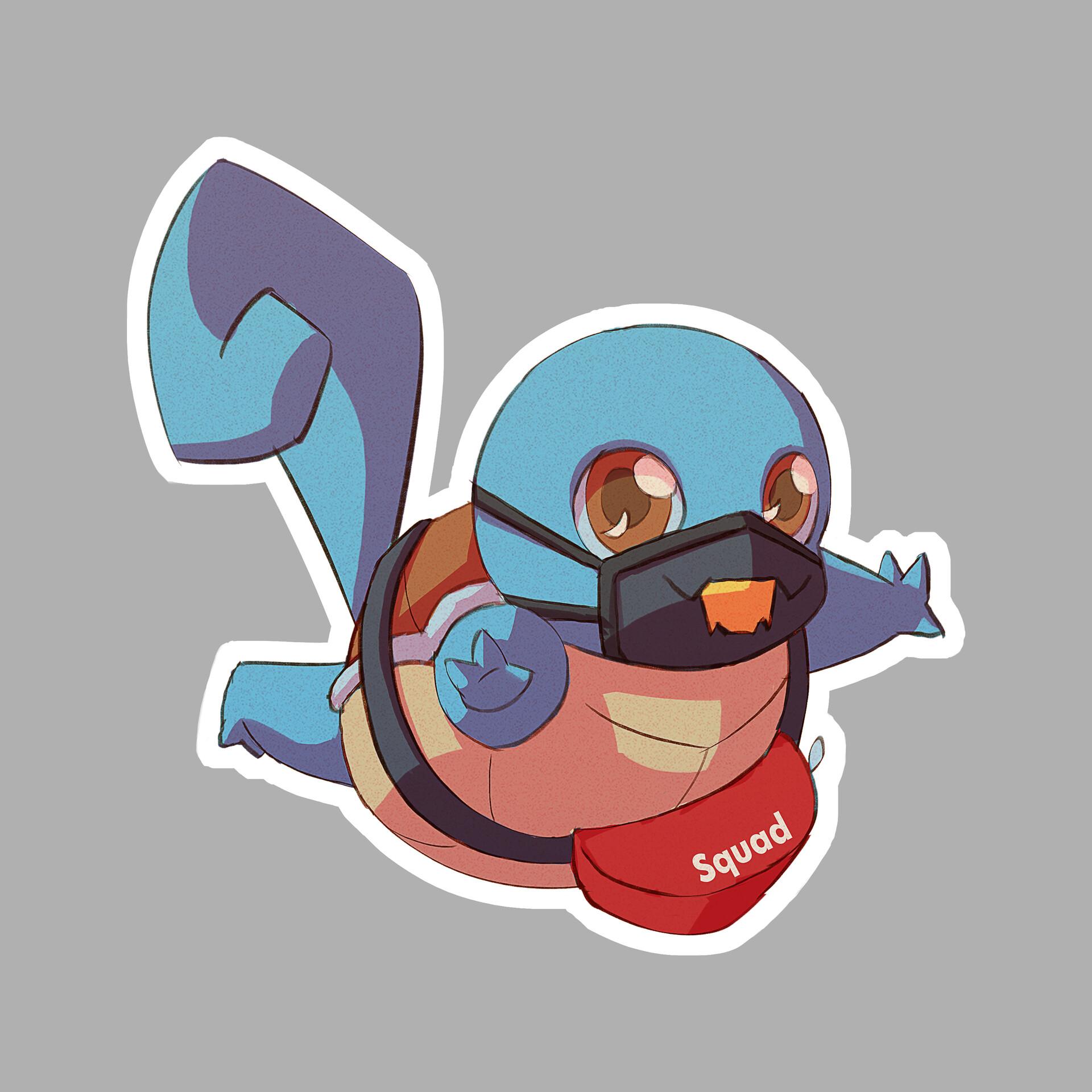 Michelle lo sticker pokemon x squirtle01