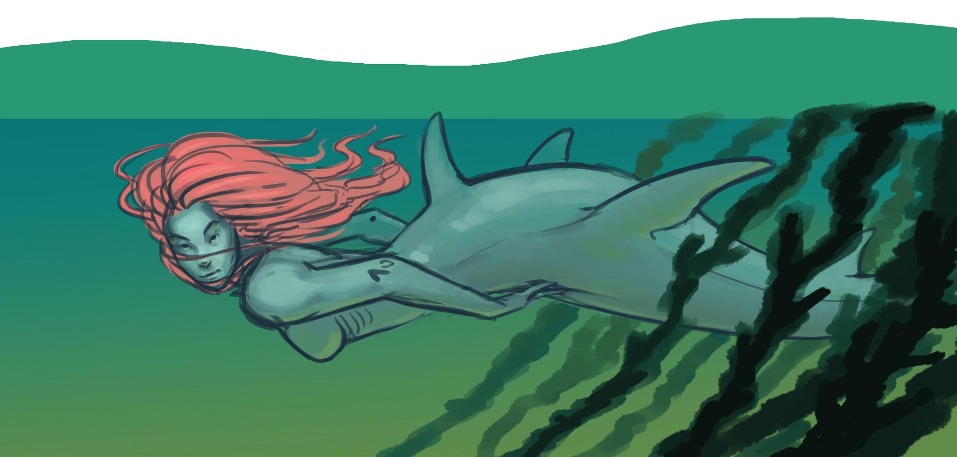 Meagen ruttan mermay shark 002