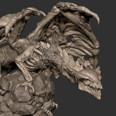 Undead Dragon for 3d Print