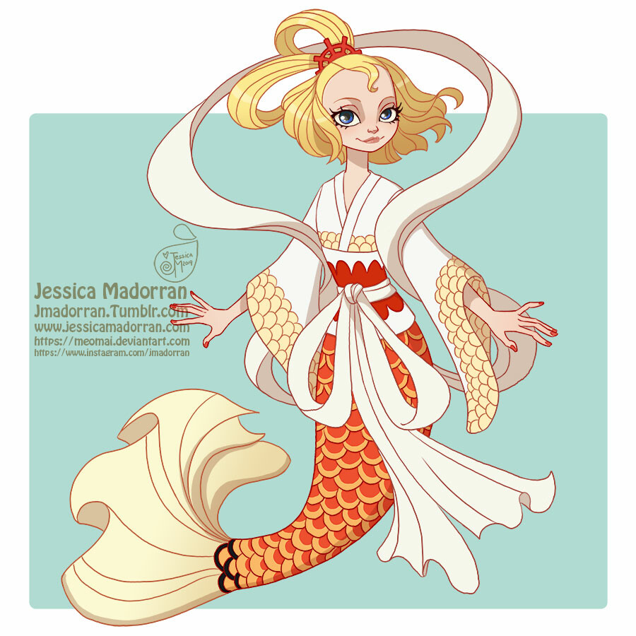 Jessica madorran mermay 2019 one piece queen otohime artstation