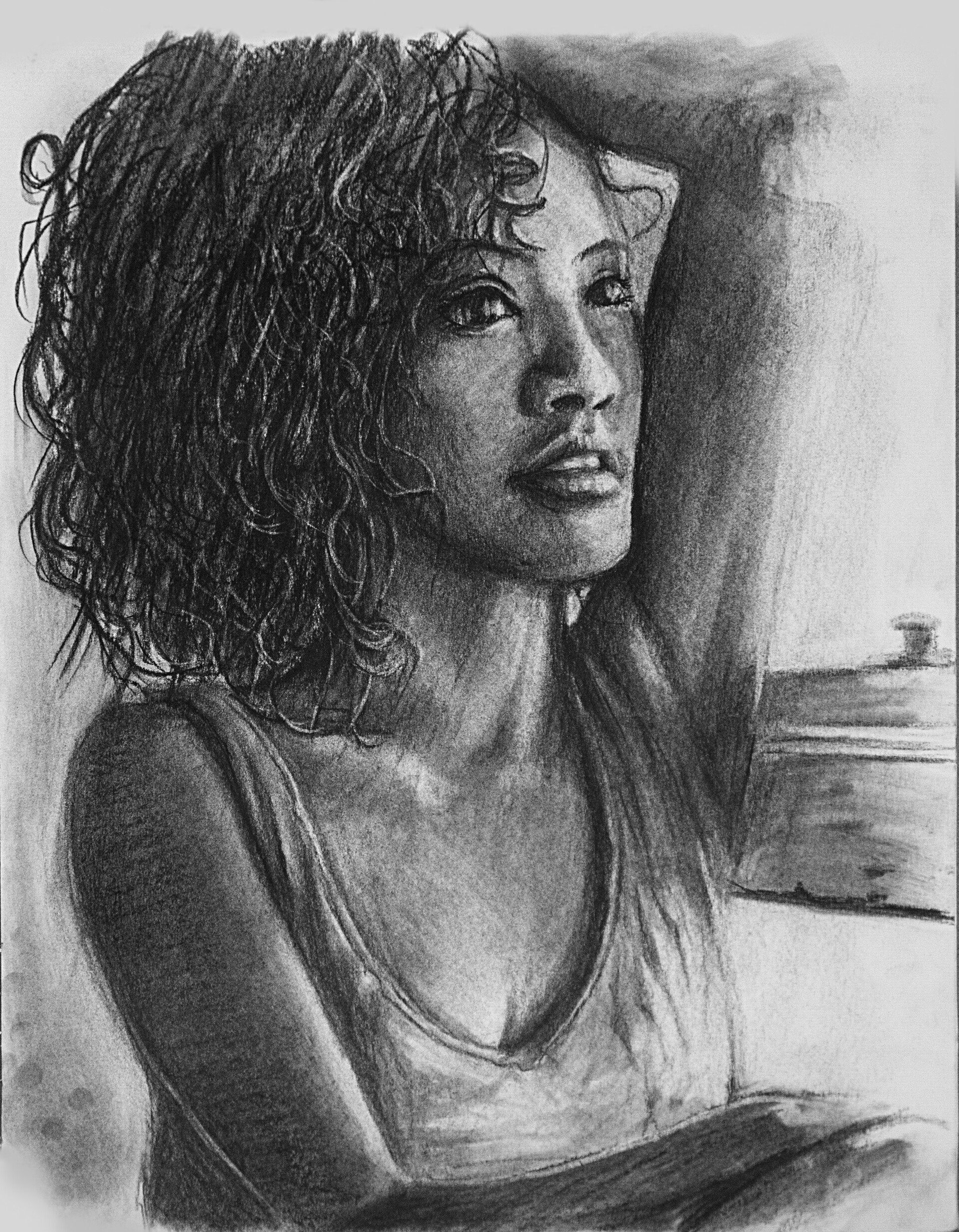 Christopher barischoff charcoal girl 03