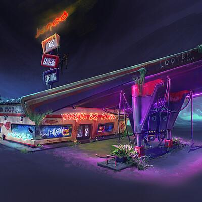 Garrett post gasstation public