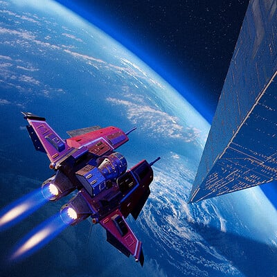 Travis lacey triangle sky travis lacey scifi concept art space ships blue planet maysketchaday web